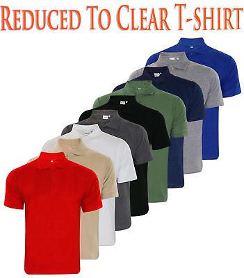 Mens T Shirts PK Polo Shirt Plain Polycotton T-Shirts Casual Tops Multi-color