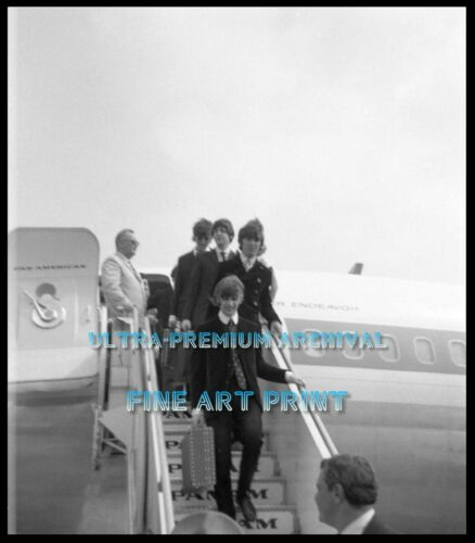 BEATLES Arrive in Boston August 1966 ** HI-RES PRO ARCHIVAL PHOTO (8.5x11)