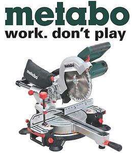 METABO 110v KGS-216M 1500w Compound Sliding Laser Mitre 216mm Wood Chop Saw