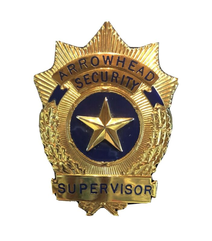 "Vintage Arrowhead Security Badge 3"" By 2"""