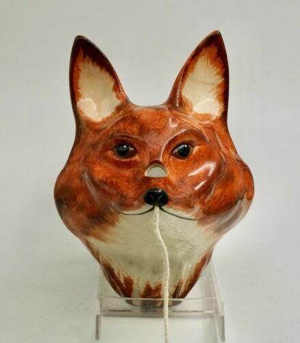 Vintage Babbacombe Pottery Fox String Scissor Holder by Philip Laureston