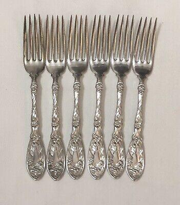Avalon Pattern 1903 Community RARE Set of 2 Vintage Silver Plate Berry Strawberry Forks