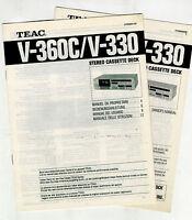 Teac - V 360c - V 330 User Manual Original Books -  - ebay.es