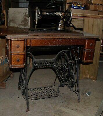 Sewing Machines Antique 1916 Singer, Restoring Antique Singer Sewing Machine Cabinet