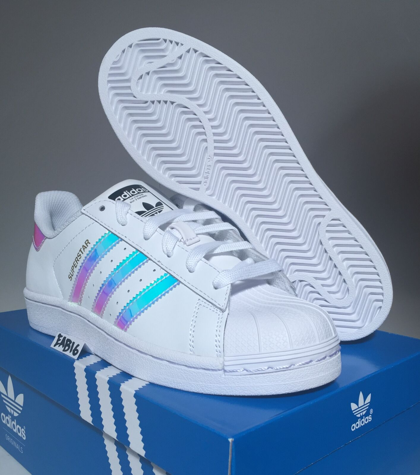 7ccc5516451 Обувь для мальчика Adidas Superstar J Junior Iridescent Hologram GS AQ6278  Boys Girls Shell Toe - 272242575252 - (США)