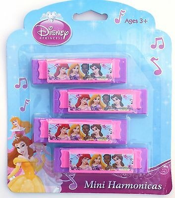 Party Favors DISNEY PRINCESSES Mini Harmonicas Birthday Loot Bag Filler 4 - Disney Princesses Party