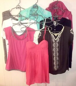 Womens 9 Assorted Tops Lot #48