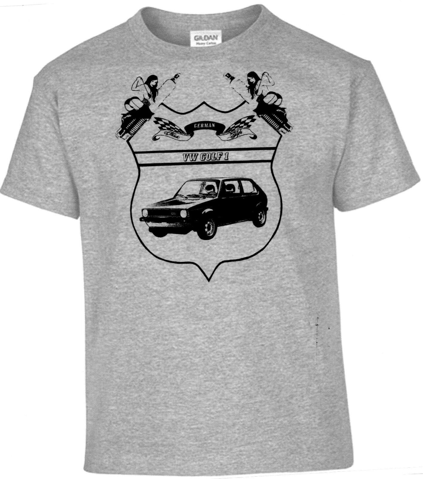 T-Shirt VW Golf 1 German Classic Style ,Pinup,Oldtimer,