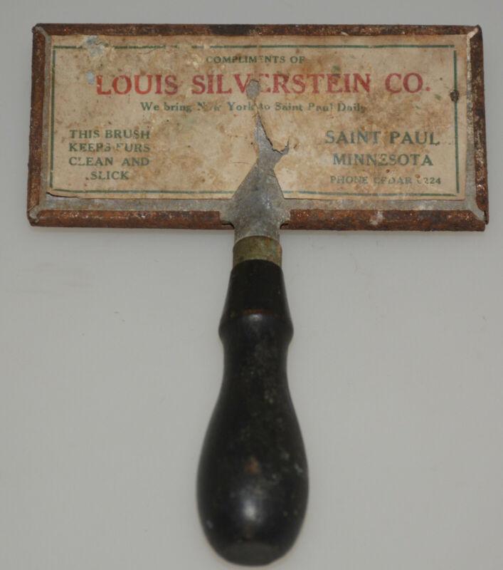 RARE LOUIS SILVERSTEIN VINTAGE FUR BRUSH SAINT PAUL MINNESOTA 1920S ANTIQUE COAT