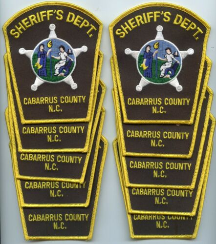 CABARRUS COUNTY NORTH CAROLINA patch lot 10 police patches SHERIFF POLICE PATCH