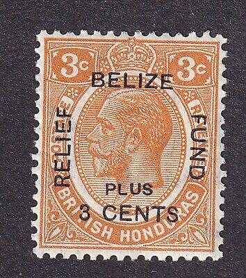 British Honduras 1922  3c orange Belize  mint hinged