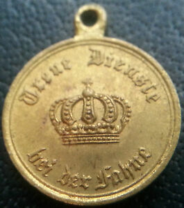 6512-German-Prussian-12-Years-Military-Service-Medal-WW1-MINIATURE