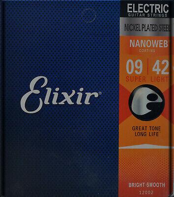 Juego Cuerdas ELIXIR Guitarra Eléctrica : 009-042 NANOweb - 12002 -Liquidaciones