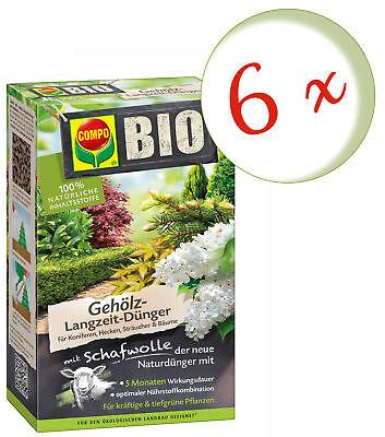 Savings Set: 6 X Compo Organic Gehölz Long-Term With Wool, 2 KG