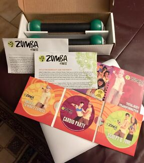 Zumba full set with  DVD's etc