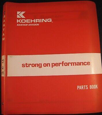 Koehring Bantam Model 304 Carrier Parts Book Manual