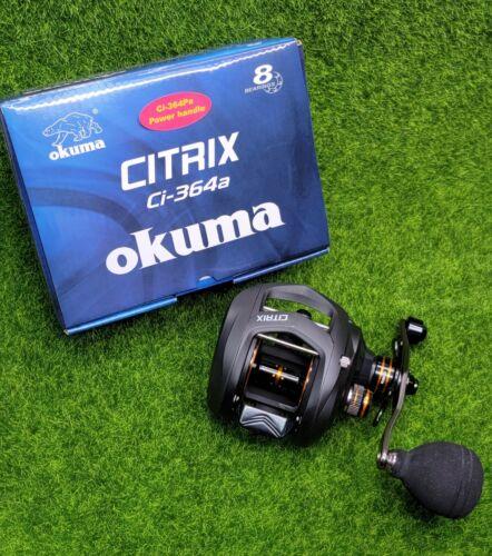Okuma Citrix 6.4:1 Low-Profile Baitcast Reel Power Handle, Right Hand - Ci-364Pa