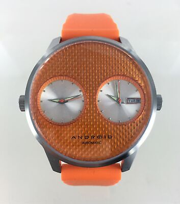 Android Automatic Self Wind Stainless Steel Orange Watch AD279