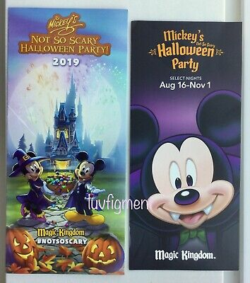 Not So Scary Halloween Party Map (Disney Halloween Map Guide + Card Mickey's Not So Scary Party 2019 New)