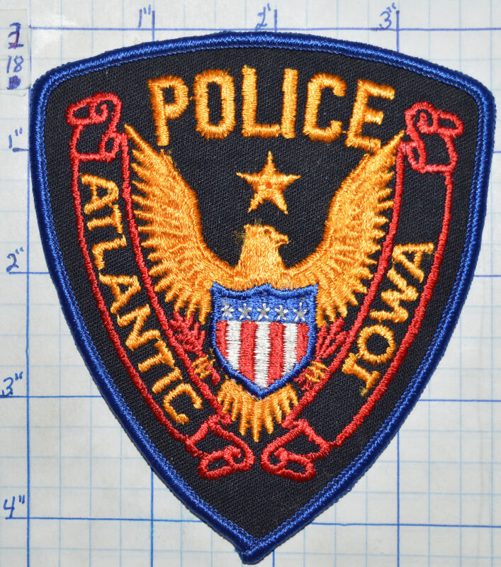 IOWA, ATLANTIC POLICE DEPT EAGLE PATCH