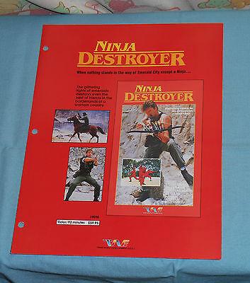 Vintage Trans World Entertainment Advertisement Brochure Ninja Destoyer Ashanti