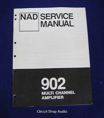 Original NAD 902 Multi Channel Amplifier Service Manual for sale  Shipping to India