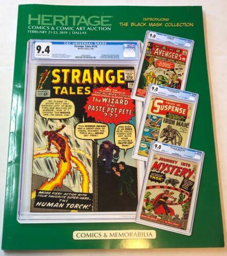 Heritage Comics & Art Auction Catalog #7204 Feb 2019 Dallas (Black Mask Coll)