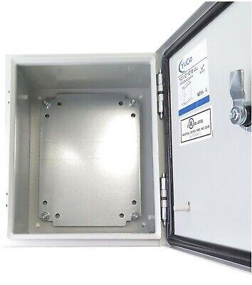 Yuco 12x10x8 Electrical Box Ip66 Rated Nema Type 4 Enclosure Gland Screwplate