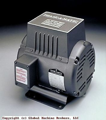 New---phase-a-matic Rotary Phase Converter R-7 Other Sizes Available - Discount
