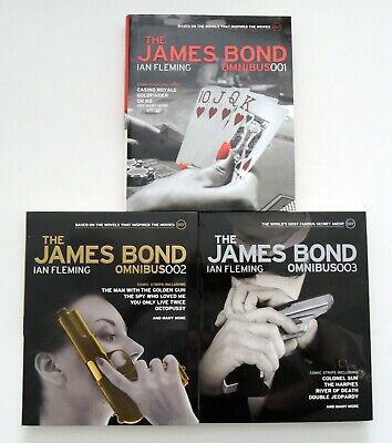 The James Bond Omnibus 001 002 003 Graphic Novel Series Books Volume 1 2 & 3 NEW