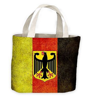 German Eagle Flag Tote Shopping Bag For Life - Germany Deutschland Football (German Flag Bag)