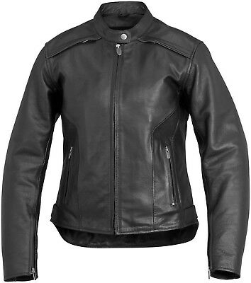 NOS RIVER ROAD 093980 SAVANNAH COOL LEATHER JACKET BLACK SIZE WOMENS MD