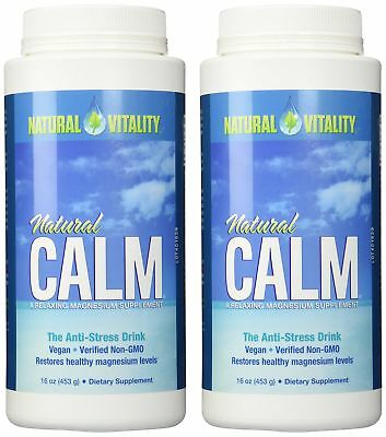 Natural Vitality Natural Magnesium Calm 2 Bottles Of 16 Ounce