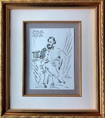 Pablo Picasso - Portrait de Leon Tolstoi - Original Mourlot Lithograph, 1956