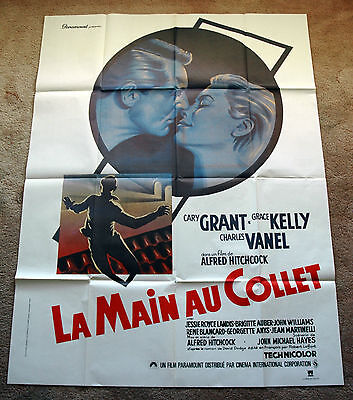 Original TO CATCH A THIEF HITCHCOCK Movie Poster Grace Kelly Cary Grant 1sh art