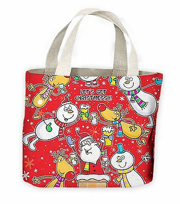 Let's Get Christmessy Funny Christmas Tote Shopping Bag For Life - Funny - Large Christmas Bags For Presents