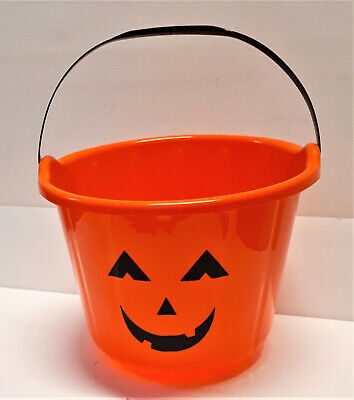 Halloween Süßigkeiten sammel Eimer Kürbis Party Horror Geister Monster 17 x 21cm