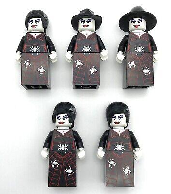 Lego 5 Neue Serie Halloween Zombie Damen Spinne Muster und Kleid ()