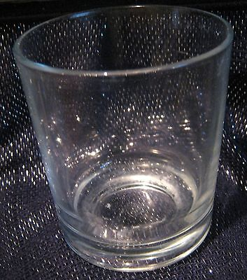 3x Tumbler style glasses with plain classic style marked on the base with a P