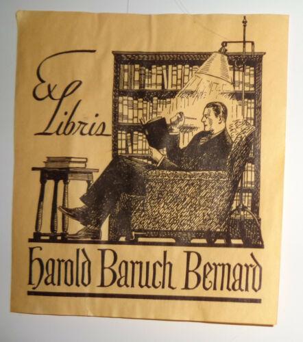 Harold Baruch Bernard Ex Libris Bookplate