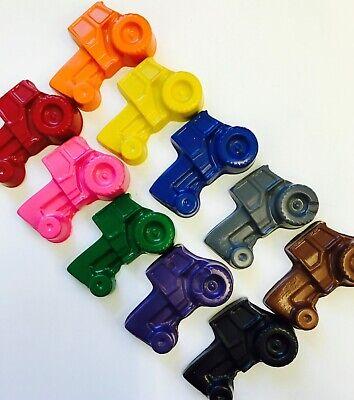 10 Rainbow Tractor Crayons Party Favors Farm John Deere Transportation  (Farm Party Favors)