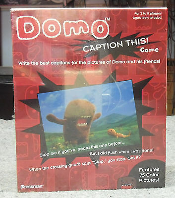 Domo Caption This Game by Pressman Toy Brand New Factory - Caption This