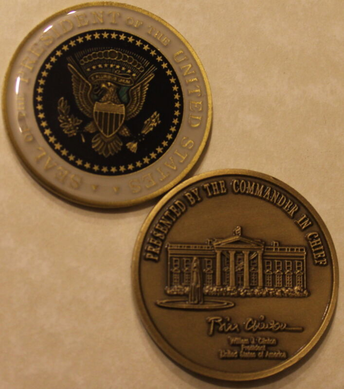 President of the United States William J. Bill Clinton Challenge Coin