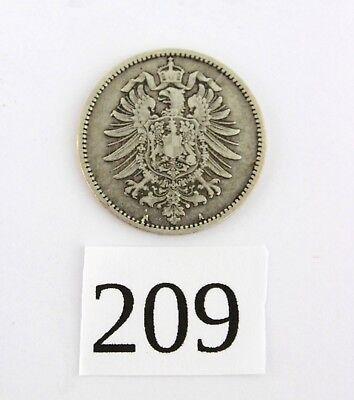 1 Mark 1874 A Silbermünze Jäger J. 9 gute Erhaltung  selten RAR