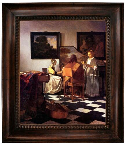 Vermeer The concert stolen Framed Canvas Print Repro 20x24