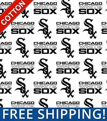 Chicago White Sox MLB Cotton Fabric - 58