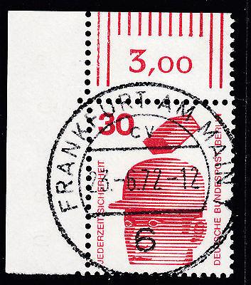 BERLIN UV MINR 406 ECKRAND OBEN LINKS ECKE 1 E1 ZENTRISCHER VOLLSTEMPEL GUMMI