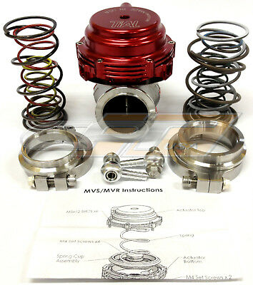 Tial MVR 44mm Wastegate With V  Band Flanges All Springs Pressure Included Red