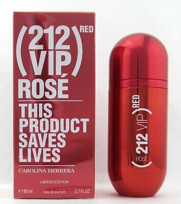 212 VIP Rose Red Edition Perfume by Carolina Herrera 2.7 oz EDP Spray for Women