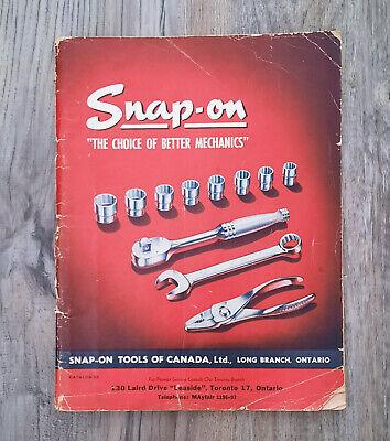 Vintage September 1948 Snap On Tools Catalog Canadian Version